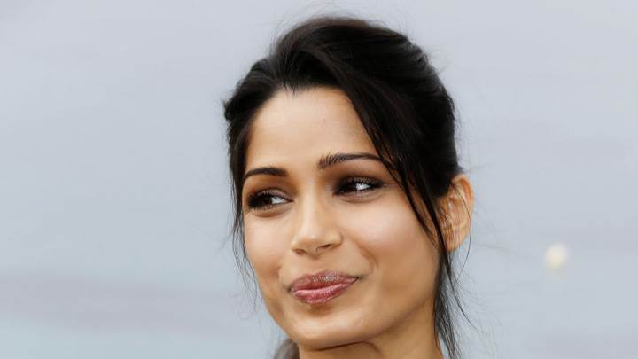 Freida Pinto Looking Side At Desert Dancer Photocall
